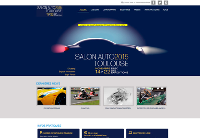 site web salon auto 2015 de toulouse creation web graphisme. Black Bedroom Furniture Sets. Home Design Ideas